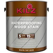 kilz solid color exterior wood stain gallon white tintable base