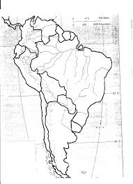 outline of south america map south america physical features map blank ambear me