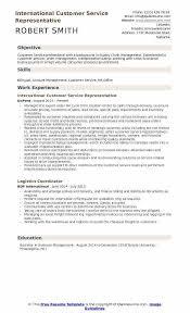 Bilingual Resume Sample Resume Templates Customer Service Lukex Co