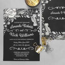 chalkboard wedding invitations boho chic wedding invites chalkboard wedding invitation template