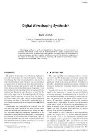 aes e library digital waveshaping synthesis