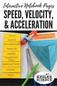 force and motion interactive notebook pages vocabulary foldable