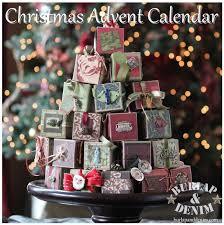 ornament advent calendarburlap denim
