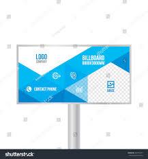design billboard template banner photos text stock vector