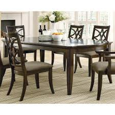 allen espresso finish 7 piece dining set with extension leaf