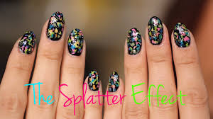 how to splatter design your nails youtube