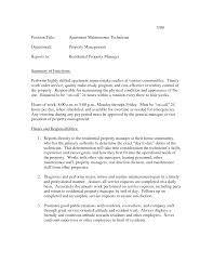 appliance repair technician resume resume for your job application