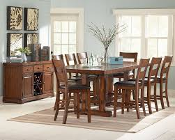 dining room table counter height loon peak matterhorn 9 piece counter height dining set u0026 reviews