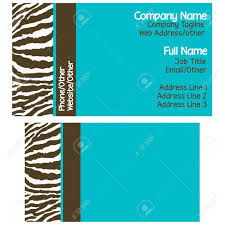 brown u0026 blue zebra business cards stock photo picture and royalty