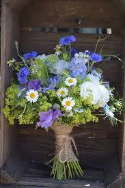Wedding Flowers Delivery High Summer Wedding Bouquet Using Cornflowers Lisianthus