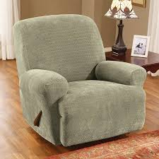 green chair slipcover sure fit stretch royal 1 recliner green recliner