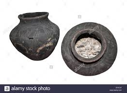 burial urns anglo saxon burial urns lincolnshire uk stock photo royalty free
