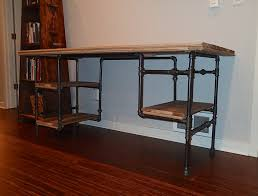 pipe desk with shelves dainty diy open pipe shelving magnolia market to assorted iron pipe