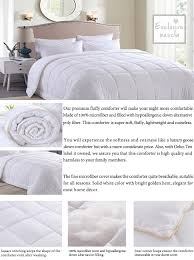 Washing A Down Comforter At Home Amazon Com Luxury Queen Size White Down Alternative Quilted