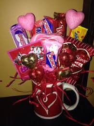 gift mugs with candy valentines day candy bouquet by superbtreatsandgifts on etsy