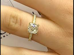 gold cushion cut engagement rings cushion cut diamond engagement ring in yellow gold