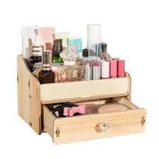 organiseur de bureau en bois bricolage bureau en bois maquillage boîte de rangement organisateur