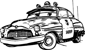 any disney cars sheriff coloring page wecoloringpage
