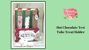 chocolate test tube treat holder using stampin u0027up treat tubes