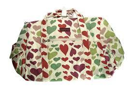 amazon com bungalow360 vegan cotton canvas duffle gym bag heart