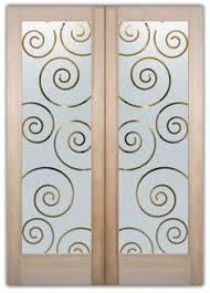 etched glass doors etched glass doors ovals pattern frosted glass door sans soucie