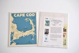 cape cod map art print 24