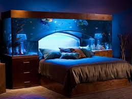 bedroom breathtaking crown beautiful brown glass modern aquarium