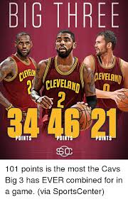 Cavs Memes - big three geveland cleveland point 101 points is the most the cavs