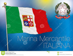 Navy Flag Meanings Commercial Navy Flag Italy Stock Illustration Illustration