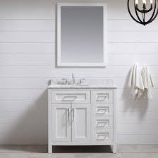 White 36 Bathroom Vanity Ove Decors Tahoe 36 Single Bathroom Vanity Set With Mirror In