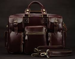Luxury genuine leather men travel bags luggage bag large men
