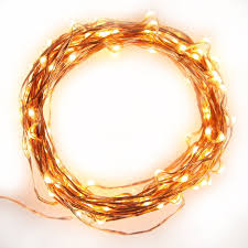 Copper String Lights by Brightech Store Brightech Even Warmer Starry String Lights