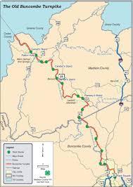 Map Of Western Nc Buncombe Turnpike Ncpedia