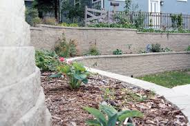 Curved Garden Wall by Retaining Walls Safety Measures Goodmanson Construction