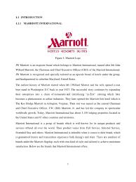 internship report marriott international hotel