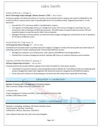 Sample Resume Of A Project Manager by Executive Resume Samples Professional Resume Samples