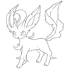 leafeon coloring pages fablesfromthefriends com