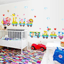 Tinkerbell Bathroom Cartoon Train Animal Vinyl Removable Decals For Kids Nursery