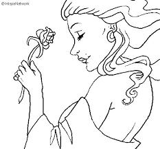 imagenes para colorear rosas dibujo de princesa con una rosa para colorear dibujos net