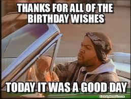 Thanks Meme - for birthday wishes meme pics