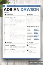 buy resume template resume template cv template adrian dawson creative resume