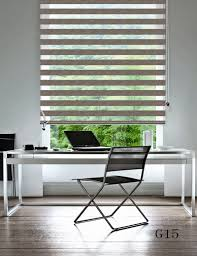 custom size shade 100 polyester translucent roller zebra blinds