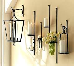 Gold Wall Sconce Candle Holder Metal Wall Sconces Gold Metal Candle Wall Sconces Rustic Iron