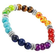 color stone bracelet images Sunyik 7 color chakra genuine semi precious stone jpg