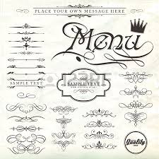 set calligraphic design elements and page decoration lots of
