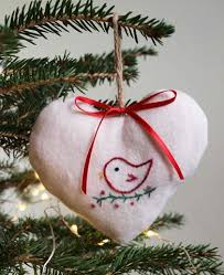 embroidered organic cotton tree ornament baby s