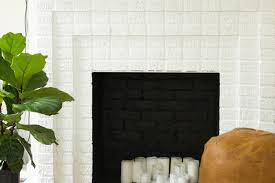 always rooney white brick fireplace before u0026 after