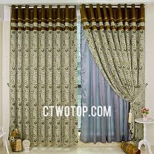 Peacock Curtains Casual Shabby Chic Modern Olive Green And Brown Peacock Curtains