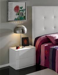 Purple High Gloss Bedroom Furniture Sandra Contemporary Bedside Cabinet In White Or Moka High Gloss