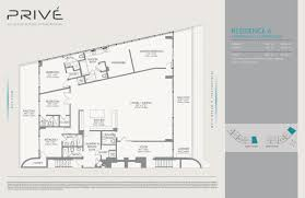 Antilla Floor Plan by Privé Aventura New Condos For Sale Bogatov Realty